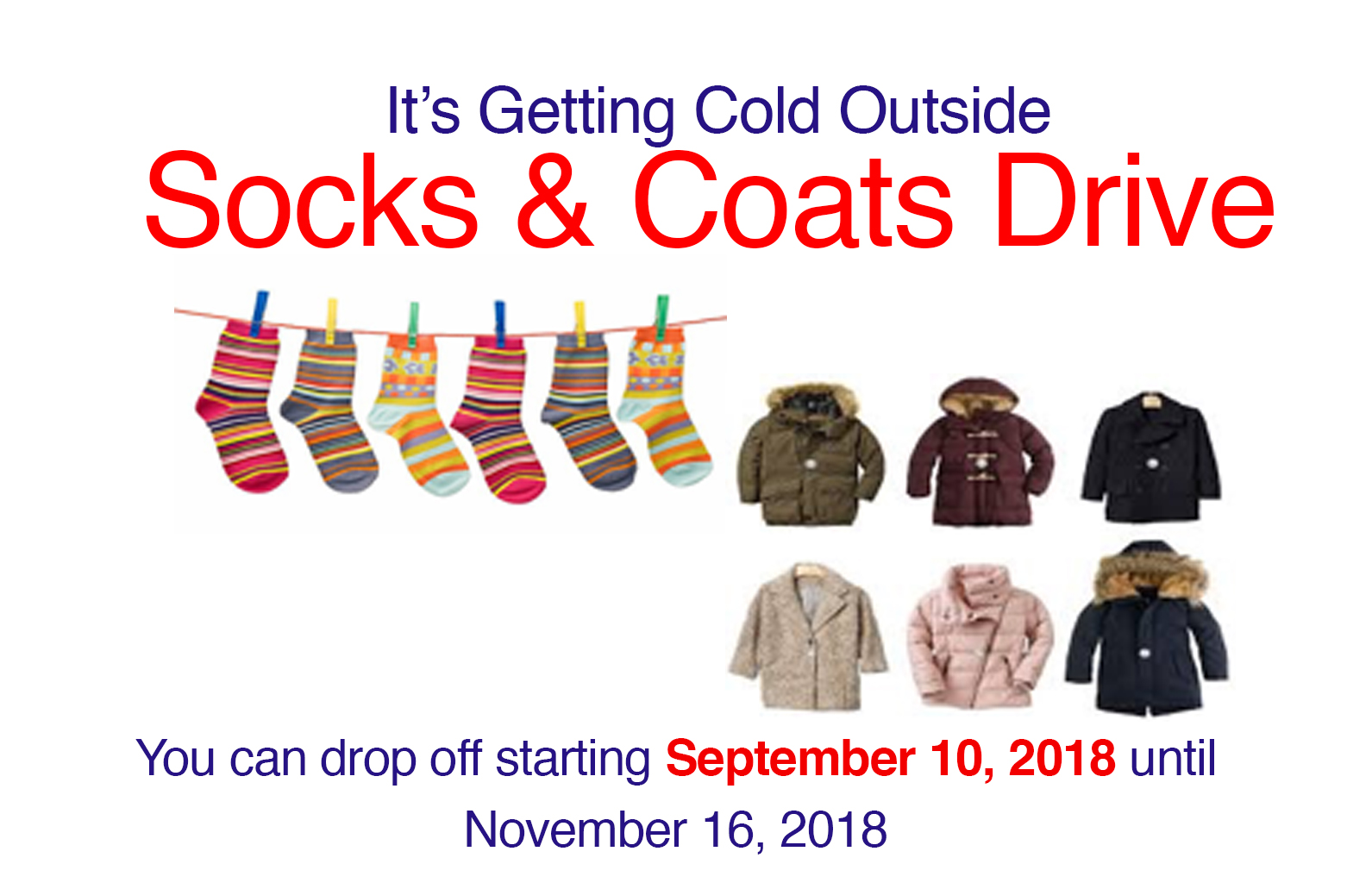 Socks and Coats Drive
