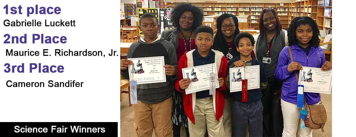 Congratulations to H.E.S. Science Fair Winners