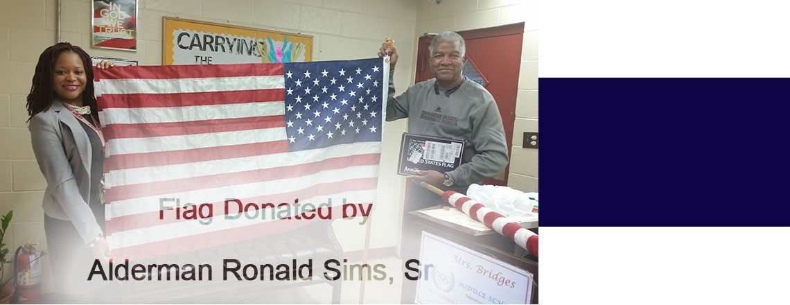 Flag Donation by Alderman Ronald Sims, Sr.