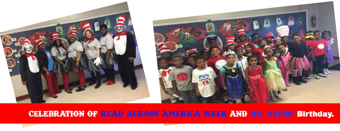 Celebration of Read Across America Week and Dr. Seuss' Birthday.