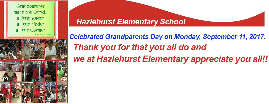 Hazlehurst Elementary Celebrating Grandparents Day