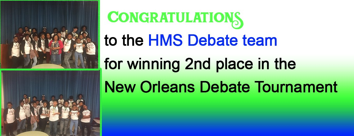 Congratulations to the HMS Debate Team