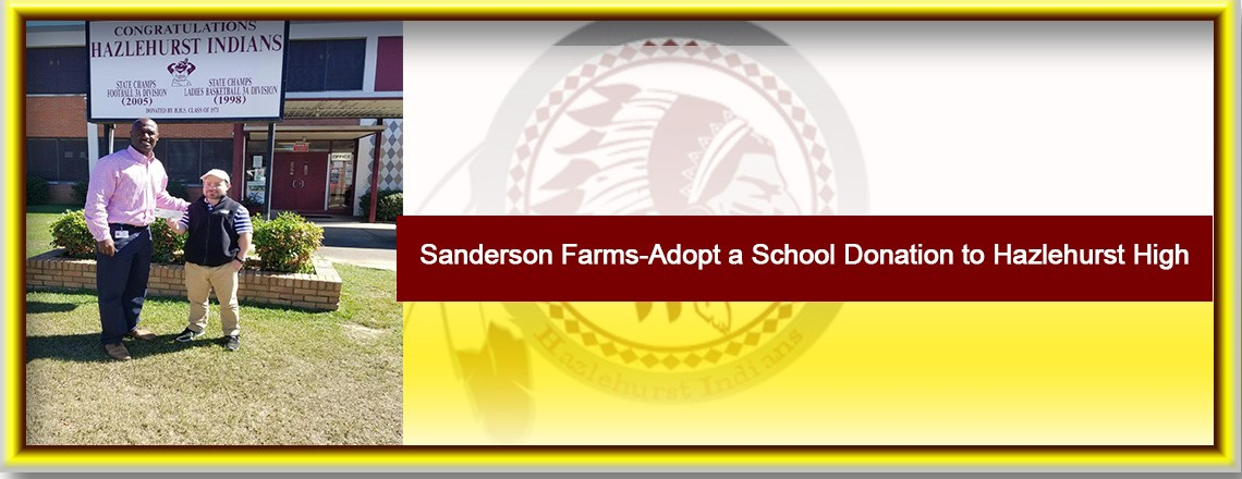 Sanderson Farms-Adopt a School Donation to Hazlehurst High School