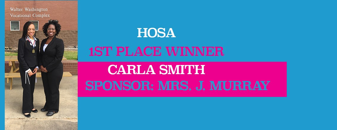 HOSA 1st Place Winner Carla Smith